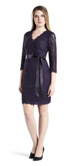 Wrap Front Lace Cocktail Dress