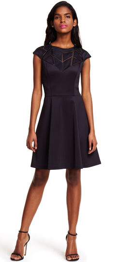 Geometric Paneled Fit and Flare Dress