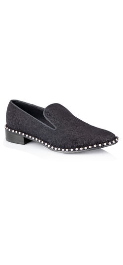 Prince Studded Detail Smoking Slipper