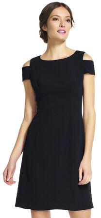 Open Shoulder Fit and Flare Dress