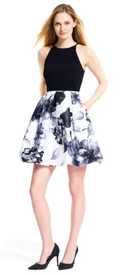 Printed Floral Halter Dress