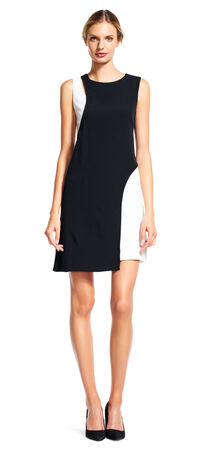 Two-Tone Sleeveless Sheath Cocktail Dress