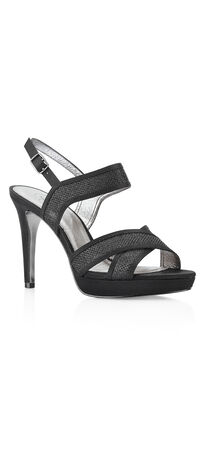 Ansel Metallic Criss-Cross High Heel