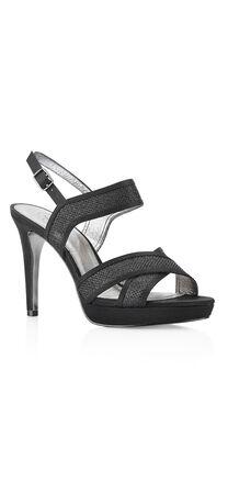 Ansel Metallic Criss-Cross High Heel