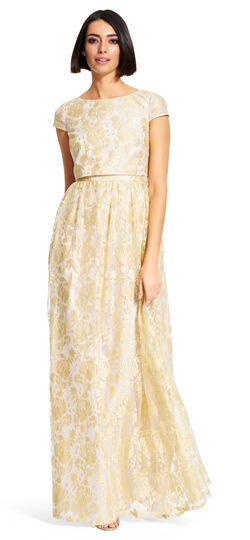 Gold Lace Popover Dress