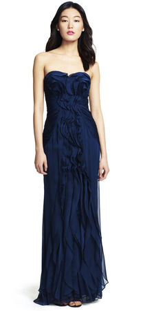Front Ruffle Gown