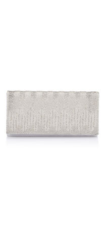 Nola Chevron Beaded Clutch