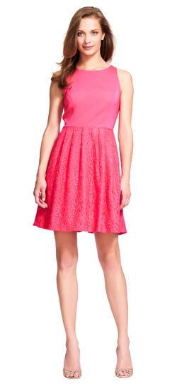 Lace Halter Dress with Keyhole Back