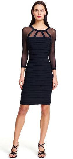 Illusion Banded Sheath Dress