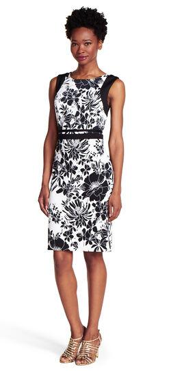 Floral Print Knit Sheath Dress