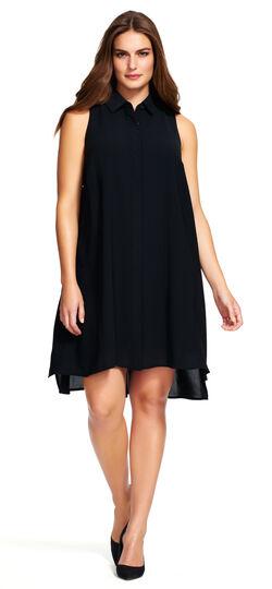 Sleeveless Fly Away Shirt Dress