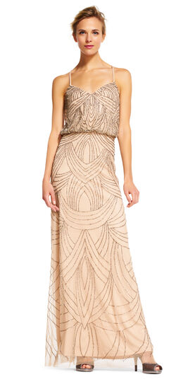 Great Gatsby Dresses for Sale Beaded Blouson Gown $300.00 AT vintagedancer.com
