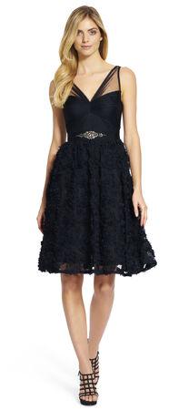 Petal Chiffon Fit and Flare Dress