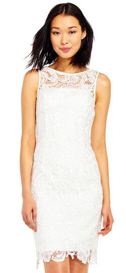 Illusion Neck Lace Sheath Dress
