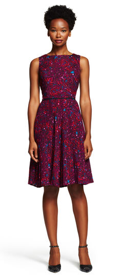 Paisley Printed Fit and Flare Dress