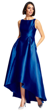 High Low Mikado Ball Gown with V-Back