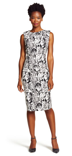 Fitted Jacquard Dress