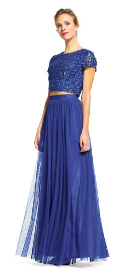 Sequin Crop Top and Tulle Skirt