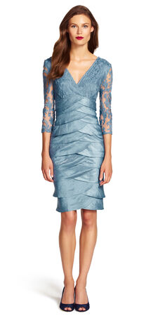 Shimmer Shutter Lace Dress