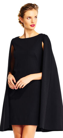 Structured Cape Sheath Dress