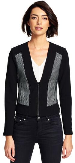 Bonded Mesh Zip-Front Jacket