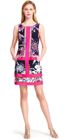 Placement Printed A-line Dress