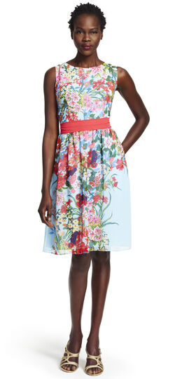 Painted Floral Party Dress