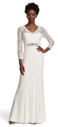 Long Sleeve Lace Mermaid Gown with Train