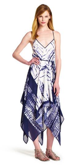 Printed Handkerchief Hem Dress
