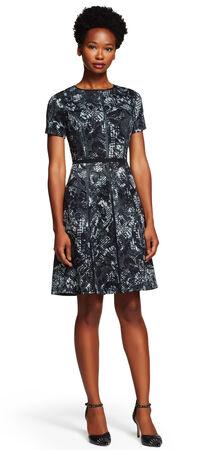 Lace Printed Scuba Dress