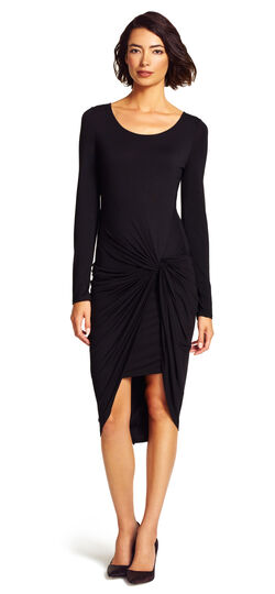 Scoop Knit Knotted Dress