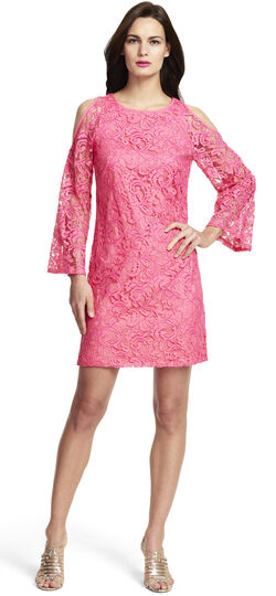 Cut Out Sleeve Lace Shift Dress