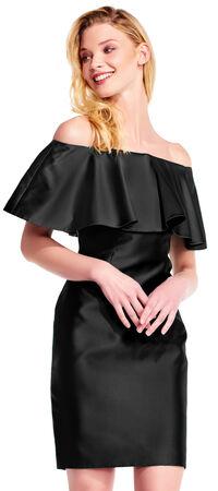 Off the shoulder mikado sheath dress