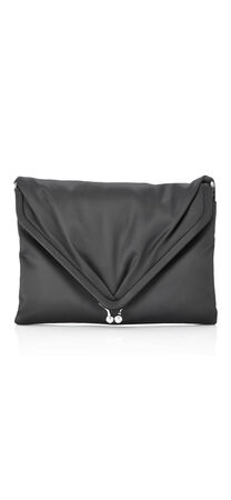 Shelby Satin V Flap Clutch