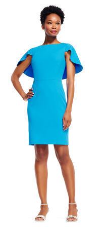 Sheath Dress with Short Cape