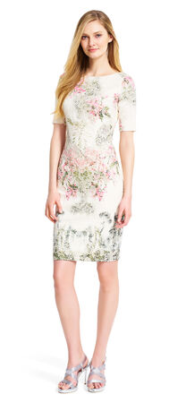 Floral Printed Jacquard Dress