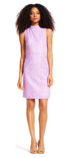 Juliet Lace A-Line Dress with Mock Neck