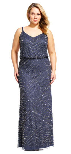 Great Gatsby Dresses for Sale Art Deco Beaded Blouson Gown $280.00 AT vintagedancer.com