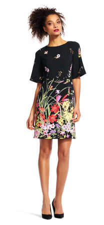 Short Sleeve Dress with Wildflower Print