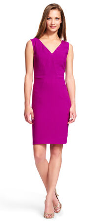Origami Sheath Dress with V-Neck