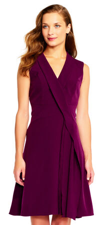 A-Line Wrap Dress with Draped Details