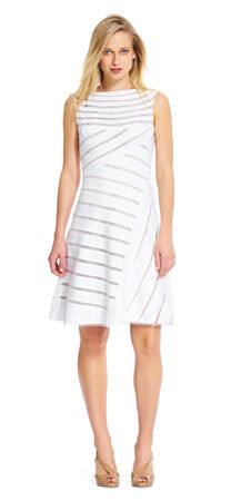 Banded flared dress
