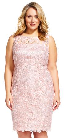 Sleeveless Lace Sheath Dress with Illusion Neckline