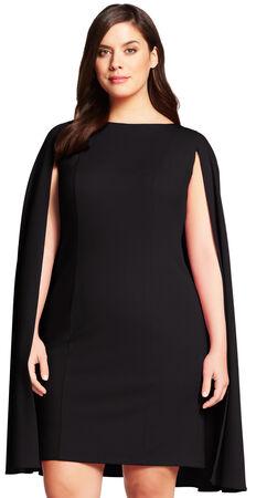 Structured Cape Sheath Dress