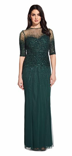 Beaded Illusion Gown Adrianna Papell
