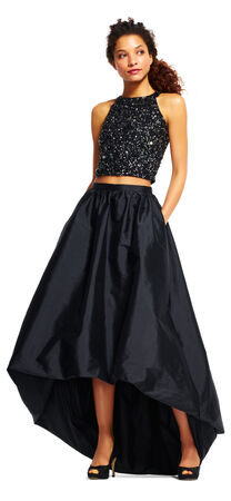 High Low Ball Gown Skirt with Bubble Hem