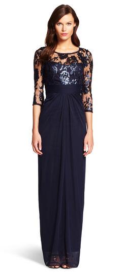 Sequin Illusion Gown