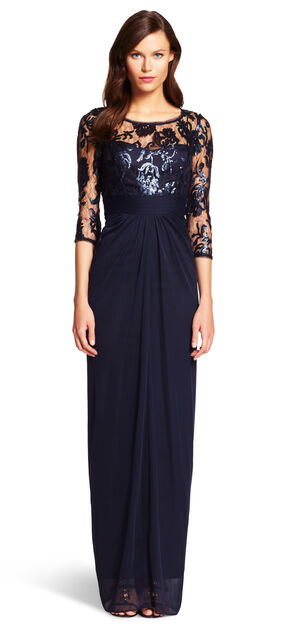 Sequin Illusion Gown $66.00 AT vintagedancer.com