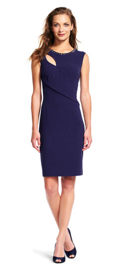 Cutout Sheath Dress with Hardware Accents