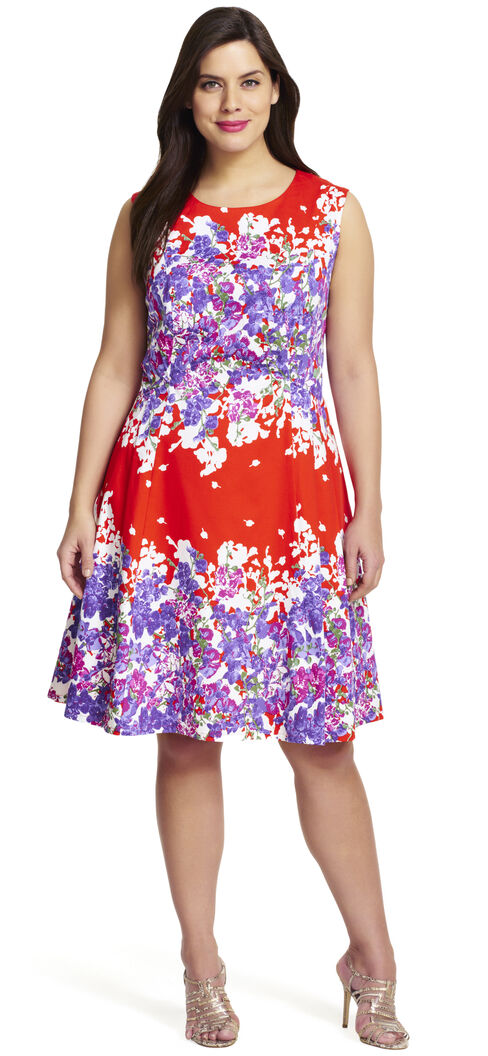 Floral Printed Fit And Flare Dress